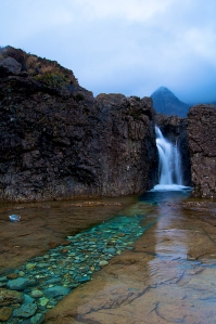 Picture of waterfall at the Fairy Pools Isle of Skye