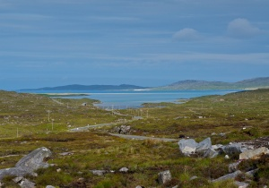 The view from the Tarbert to Luskentyre road