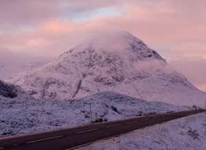 A 82 Road passes Buachaille