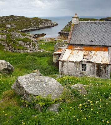 Abandoned cottage in Isle of Harris