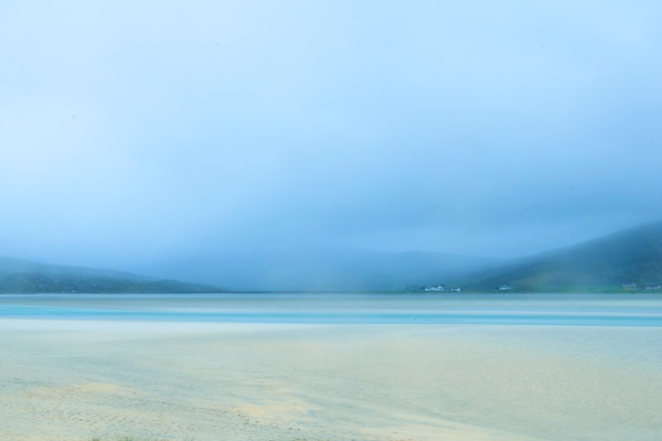Seilebost Isle of Harris in a misty rainy day