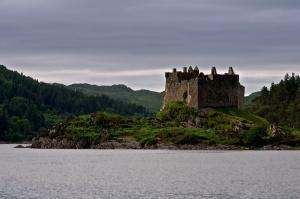 Tioram Castle on Loch Aiort Ardnamurchan